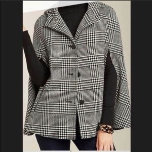 Talbots houndstooth cape xs/s
